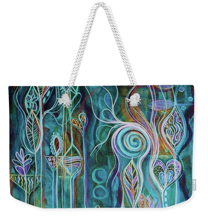 Art Weekender Tote Bag featuring the painting Itty Bitty Fun by Angel Fritz