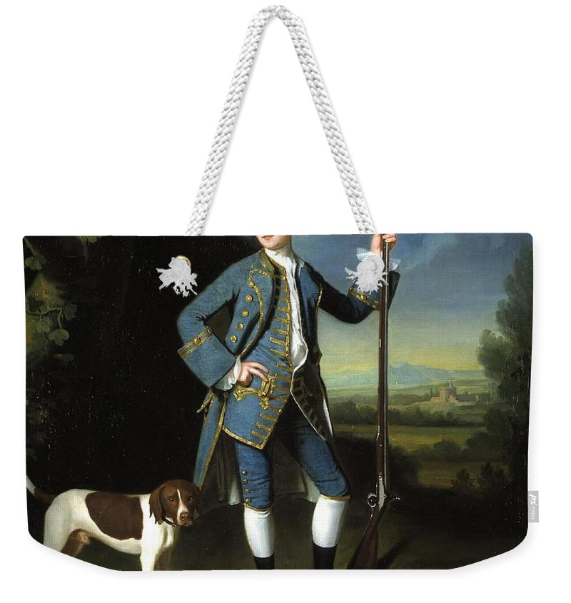 George Romney 1734�1802  Jacob Morland Of Capplethwaite Weekender Tote Bag featuring the painting Jacob Morland Of Capplethwaite by George Romney