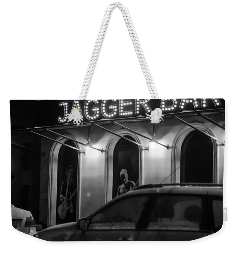 Jagger Weekender Tote Bag featuring the photograph Jagger Bar In Ufa Russia by John Williams