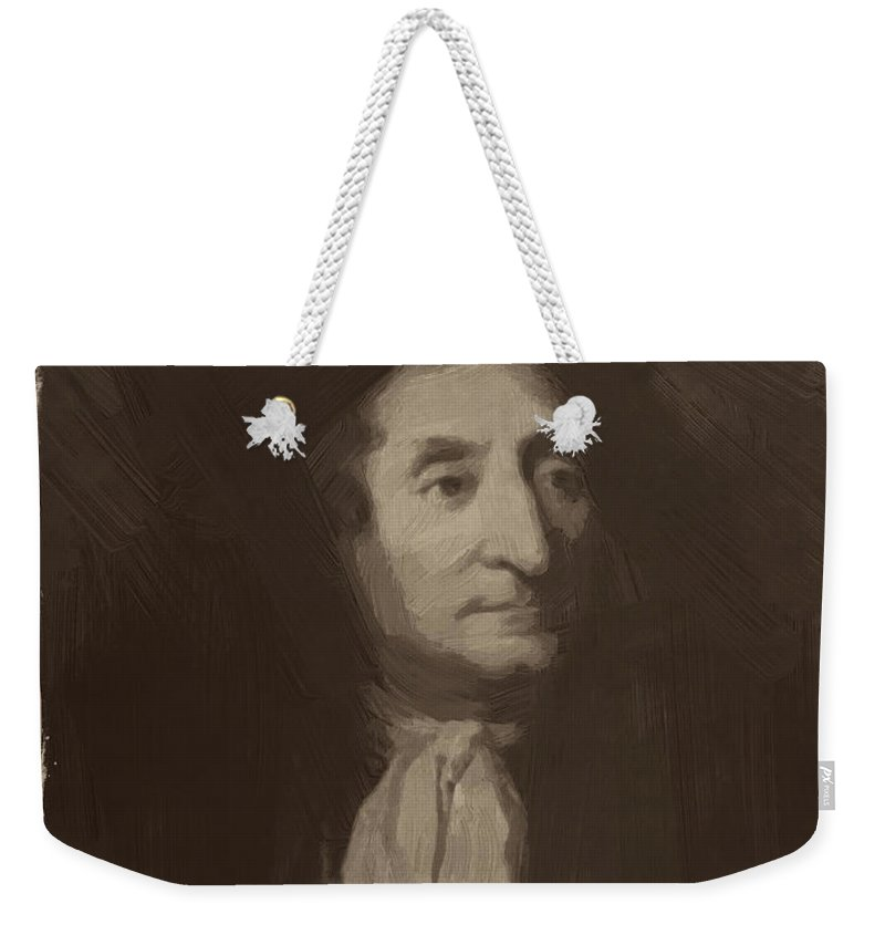 Jean De La Fontaine Weekender Tote Bag featuring the painting Jean De La Fontaine by Afterdarkness