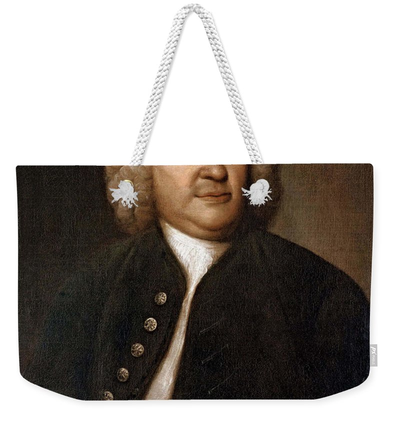 Art Weekender Tote Bag featuring the photograph Johann Sebastian Bach, German Baroque by Photo Researchers