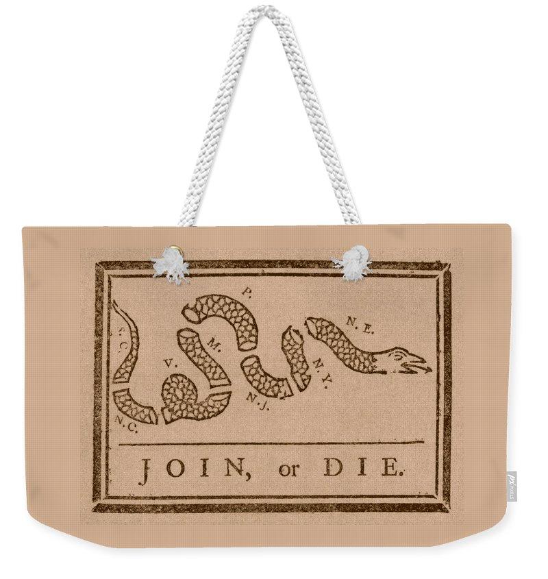 Snake Weekender Tote Bags