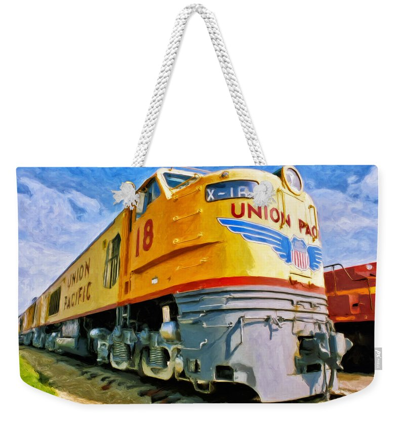 Union Pacific Weekender Tote Bag featuring the painting Just Resting by Dominic Piperata