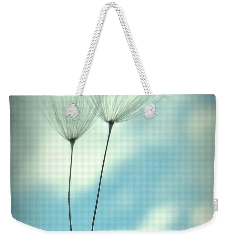 Dandelion Weekender Tote Bag featuring the photograph Just Two Of Us by MingTa Li