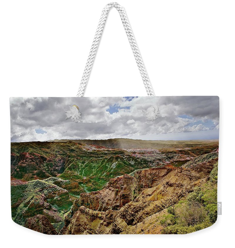Kauai Weekender Tote Bag featuring the photograph Kauai Landscape 7 by Craig Andrews