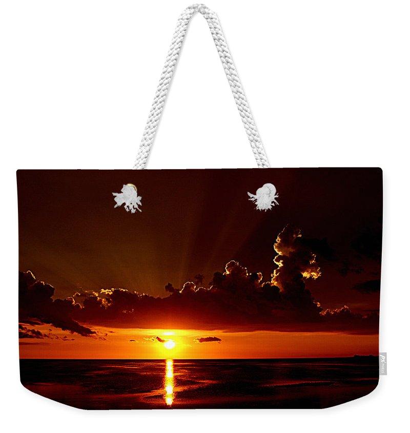 Keaton Beach Weekender Tote Bag featuring the photograph Keaton Beach Sunset by Bob Johnson