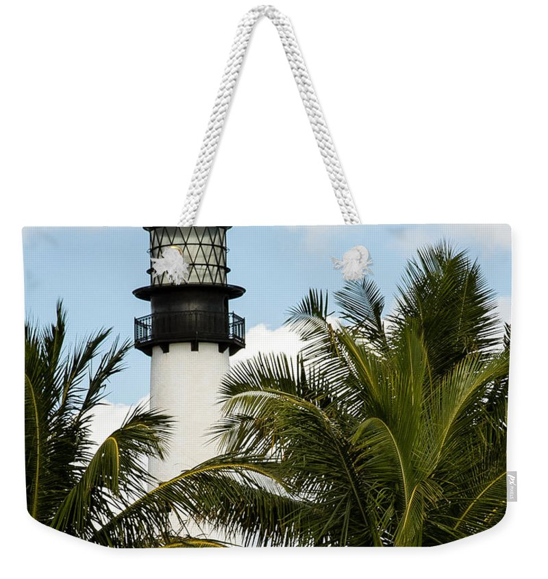 Key Biscayne Weekender Tote Bag featuring the photograph Key Biscayne Lighthouse, Florida by Nicole Freedman