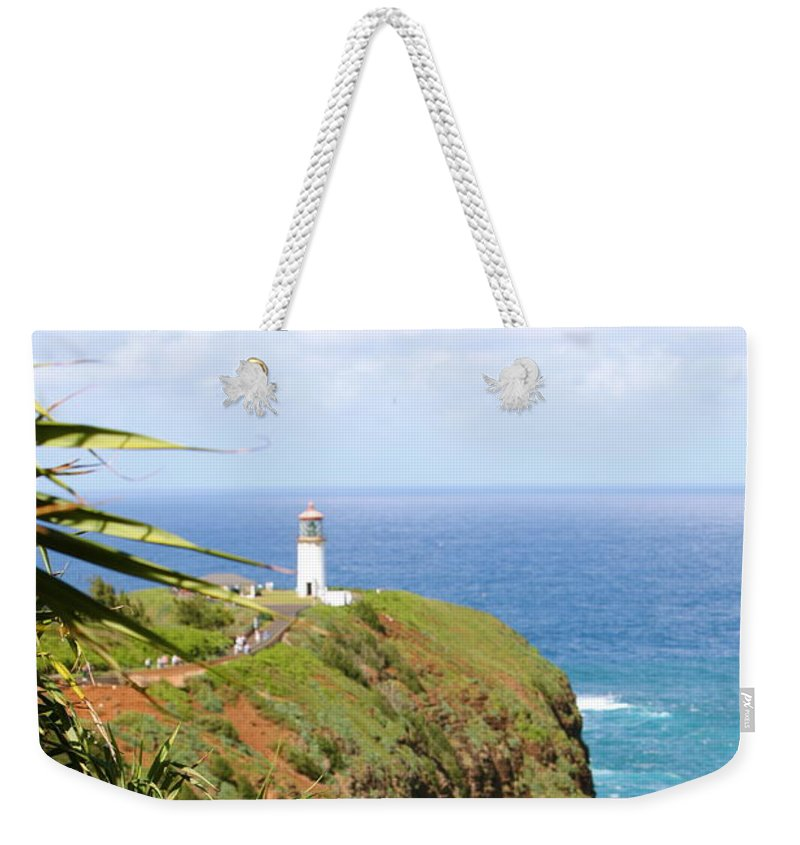 Lighthouse Weekender Tote Bag featuring the photograph Kilauea Lighthouse by Nadine Rippelmeyer