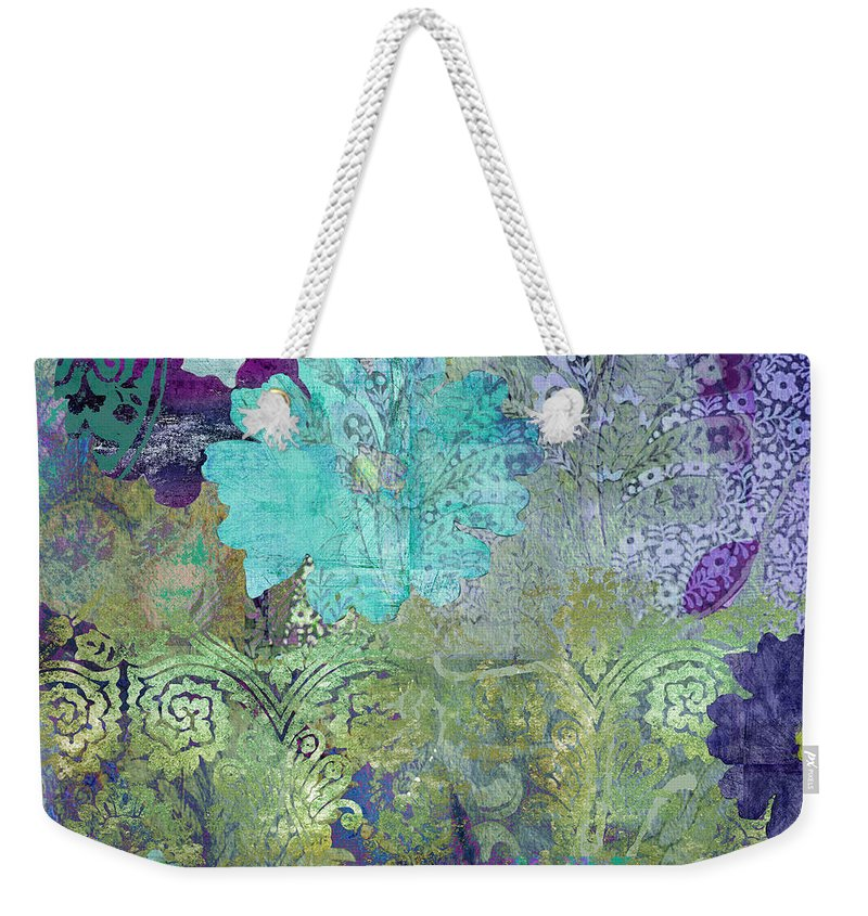 Abstract Weekender Tote Bag featuring the painting Kismet by Mindy Sommers