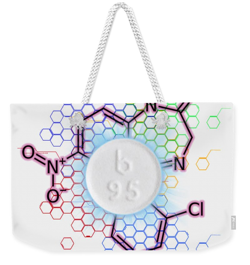 Medical Weekender Tote Bag featuring the photograph Klonopinclonazepam by George Mattei
