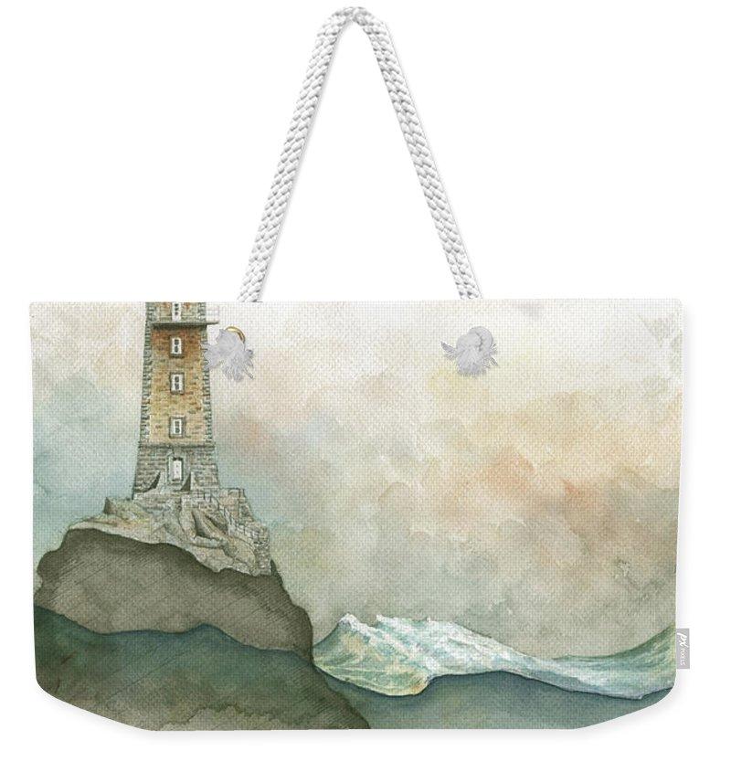 Lighthouse Paintings Weekender Tote Bags