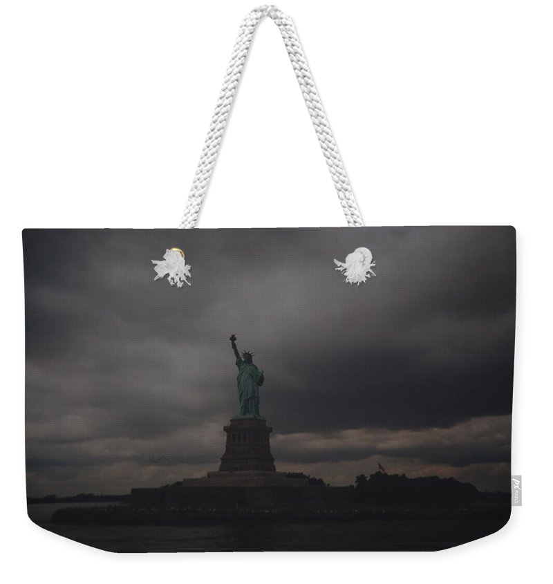 Statue Of Liberty Weekender Tote Bag featuring the photograph Lady Liberty by Rob Hans