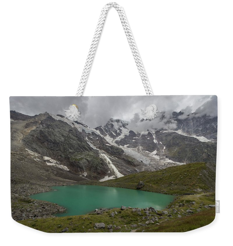 Alps Weekender Tote Bag featuring the photograph Lake Locce And Monte Rosa - Piedmont / Italy by Massimo Mazza