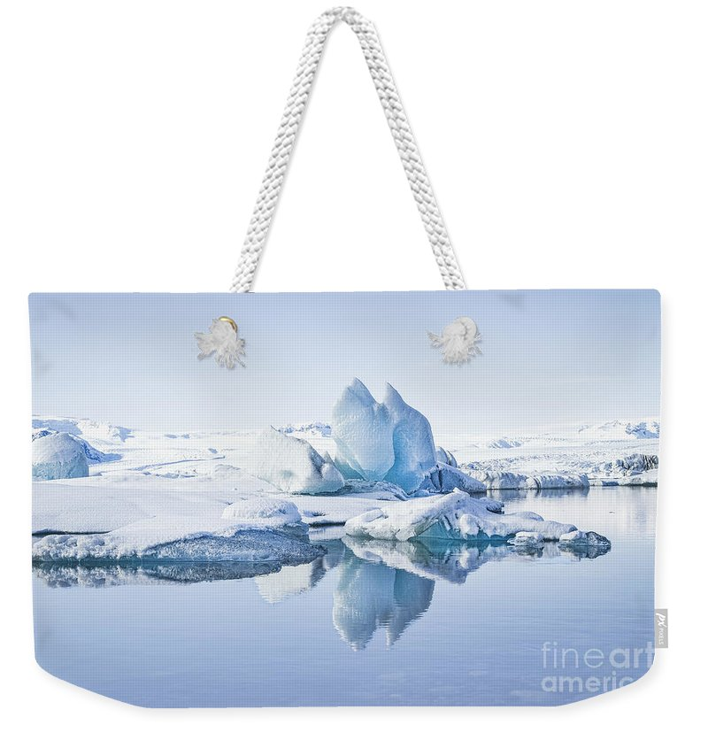Kremsdorf Weekender Tote Bag featuring the photograph Land Of Ice by Evelina Kremsdorf
