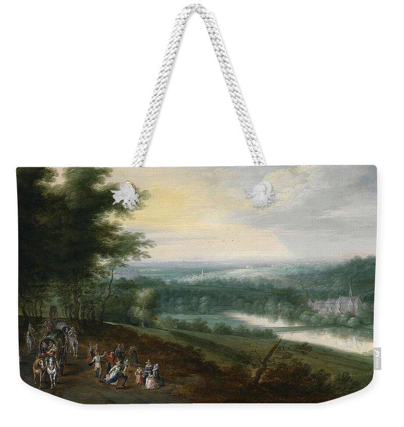 Jan Brueghel Ii (1601�1678) Landscape Weekender Tote Bag featuring the painting Landscape by Jan Brueghel