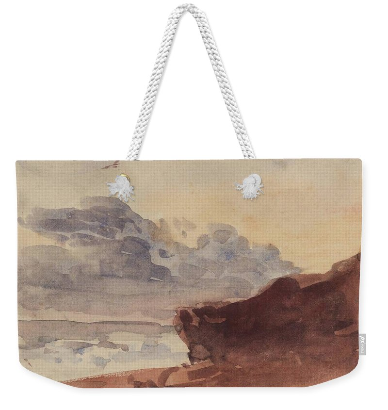 William Henry Hunt A Landscape Weekender Tote Bag featuring the painting Landscape by William Henry
