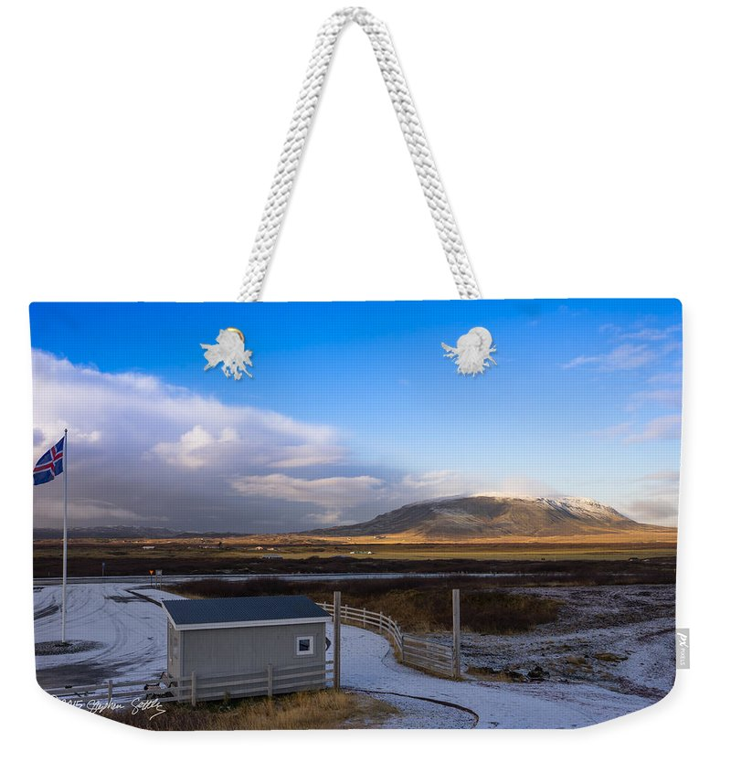 Glacier Weekender Tote Bag featuring the photograph Langjokull Glacier by Stephen Settles