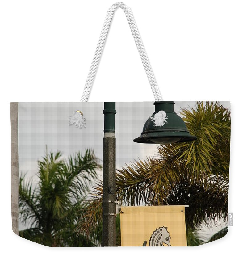 Sea Horse Weekender Tote Bag featuring the photograph Lantana Lamp Post by Rob Hans