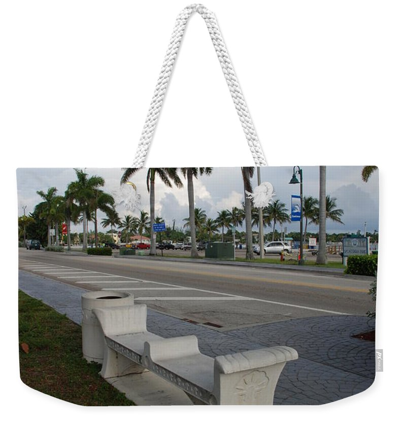 Blue Sky Weekender Tote Bag featuring the photograph Lantana by Rob Hans