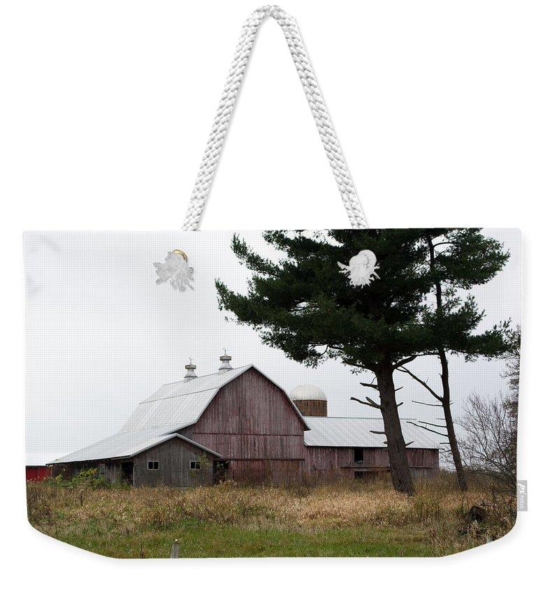 Barn Weekender Tote Bag featuring the photograph Large Barn by Linda Kerkau