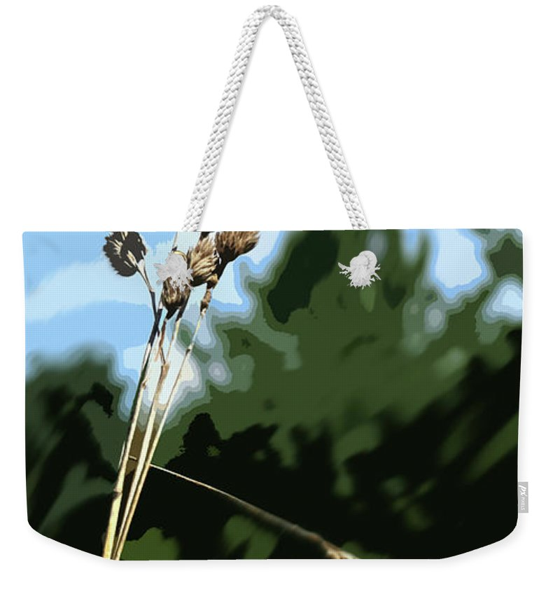 Straw Weekender Tote Bag featuring the photograph Last Straw by Ian MacDonald