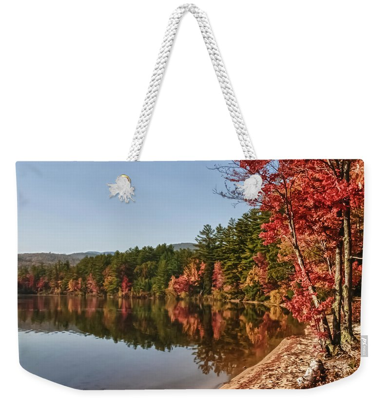 #jefffolger Weekender Tote Bag featuring the photograph Late Afternoon On Lake Chocorua by Jeff Folger