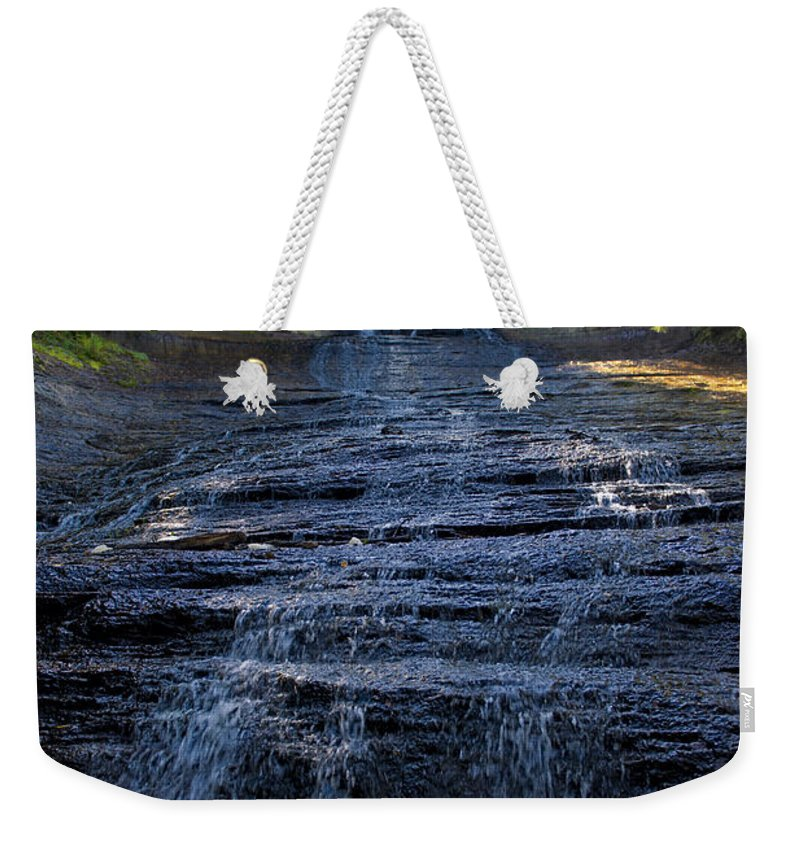 Water Weekender Tote Bag featuring the photograph Laughing Fish Falls by David Arment