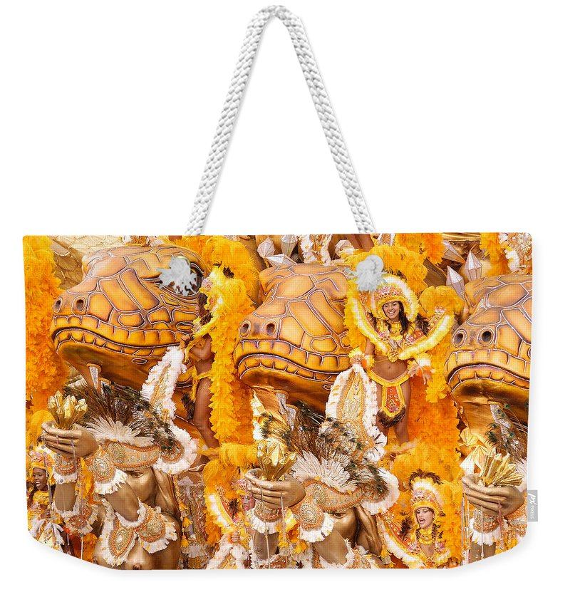 Brazil Weekender Tote Bag featuring the photograph Lets Samba by Sebastian Musial