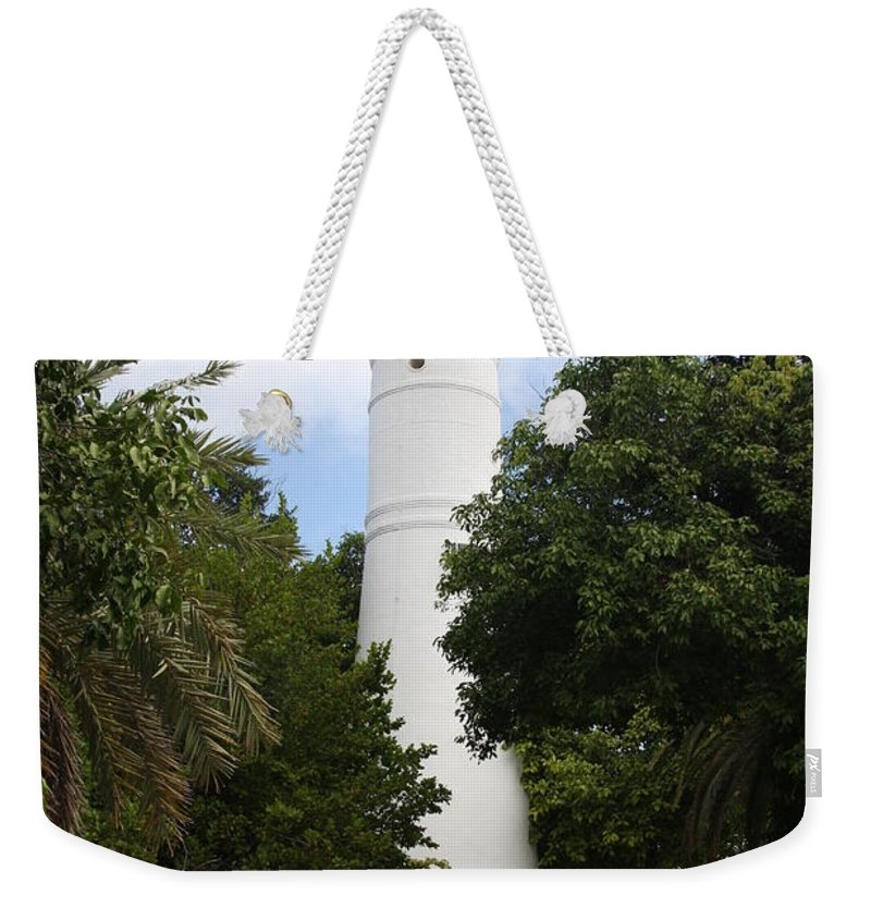 Ligthouse Weekender Tote Bag featuring the photograph Lighthouse - Key West by Christiane Schulze Art And Photography