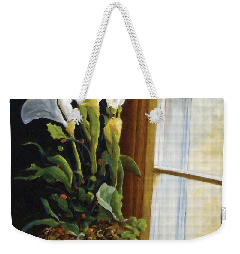 Art Weekender Tote Bag featuring the painting Lillies by Richard T Pranke