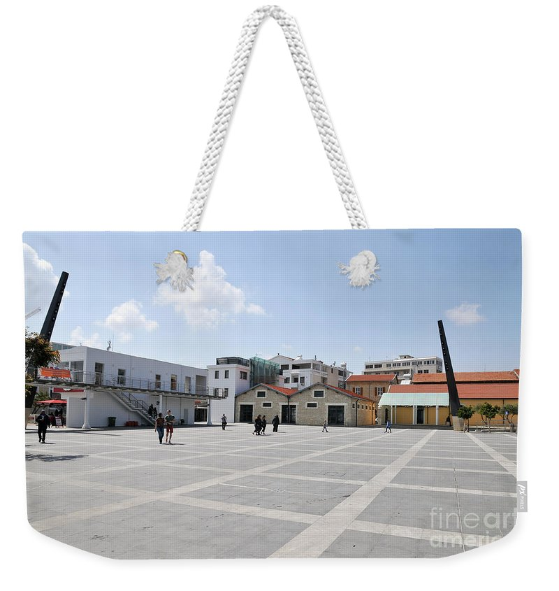 Limassol Weekender Tote Bag featuring the photograph Limassol Marina by Shay Levy