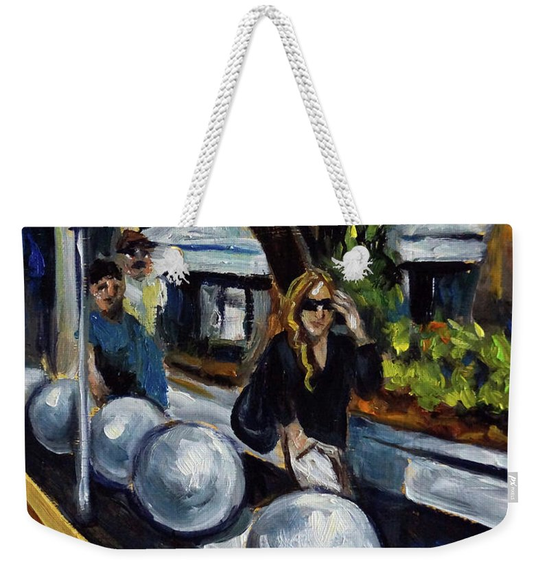 Sobe Weekender Tote Bag featuring the painting Lincoln Road by Valerie Vescovi