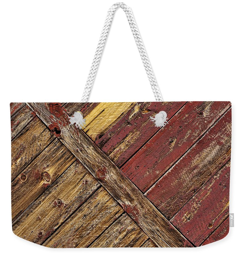 Wood Weekender Tote Bag featuring the photograph Linear by Kelley King