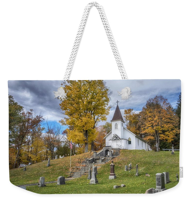 Church Weekender Tote Bag featuring the photograph Country Church by Claudia Kuhn