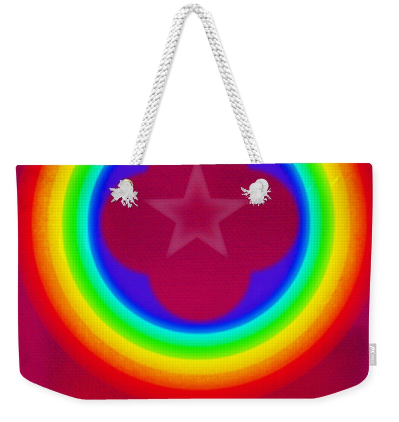 Abstract Weekender Tote Bag featuring the painting Logo by Charles Stuart