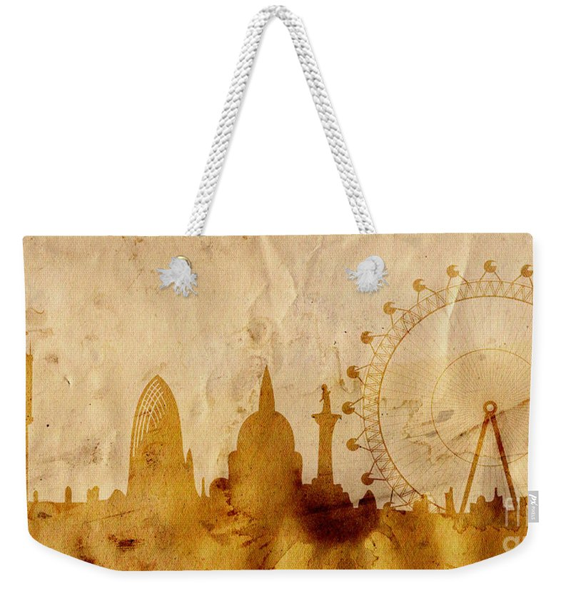 London Weekender Tote Bag featuring the mixed media London by Michal Boubin