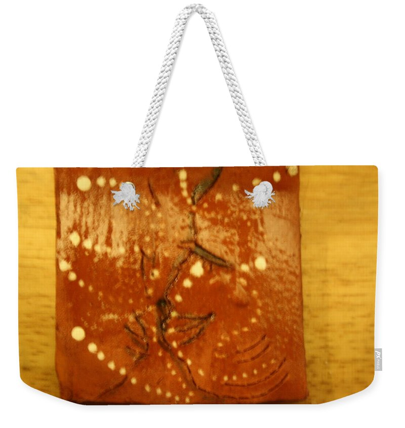 Jesus Weekender Tote Bag featuring the ceramic art Love - Tile by Gloria Ssali