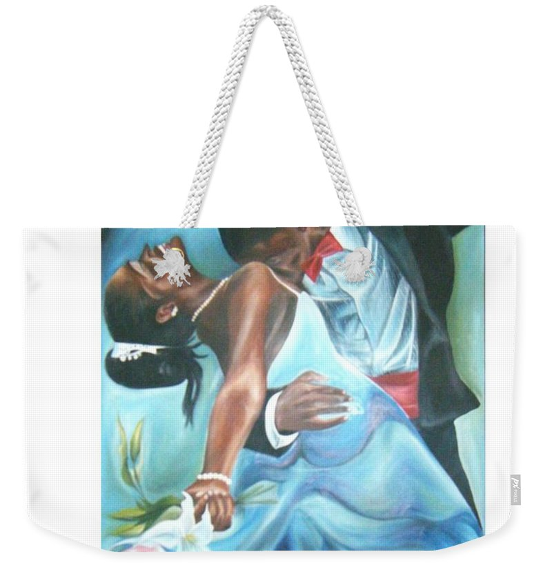 Beautiful Weekender Tote Bag featuring the painting Love Dance by Olaoluwa Smith