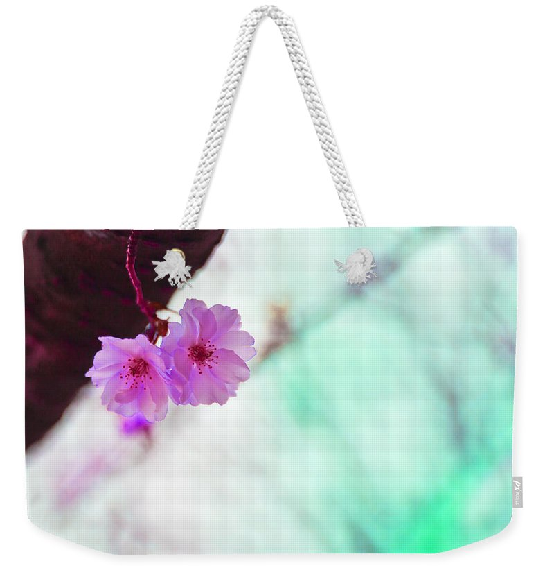 Flowers Weekender Tote Bag featuring the photograph Love Twins V2 by Alex Art and Photo