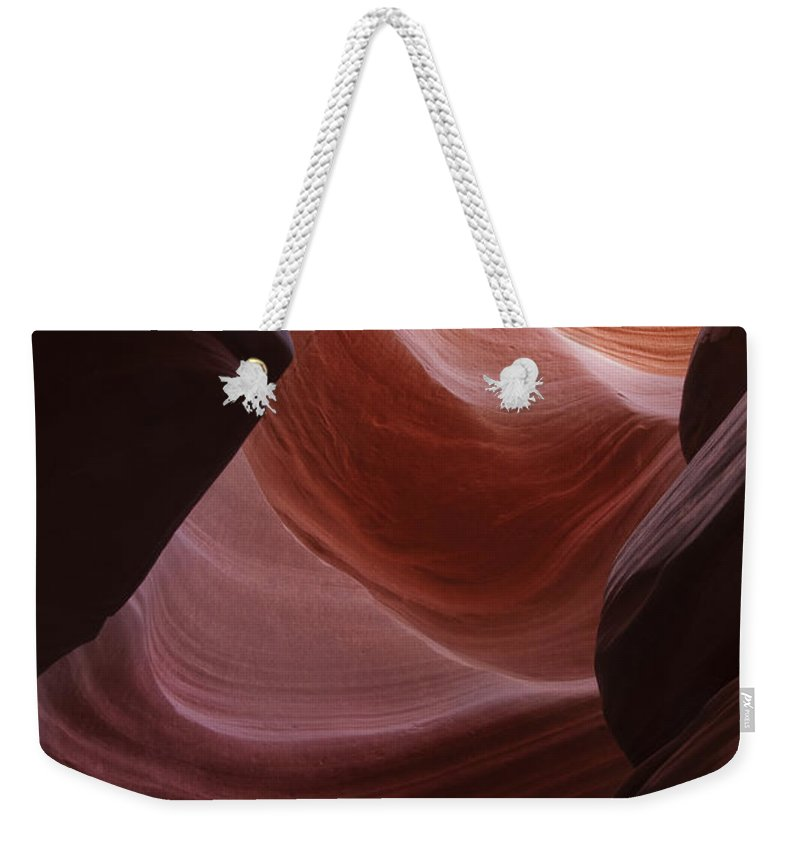 Slot Weekender Tote Bag featuring the photograph Lower Antelope Canyon 2 7902 by Bob Neiman