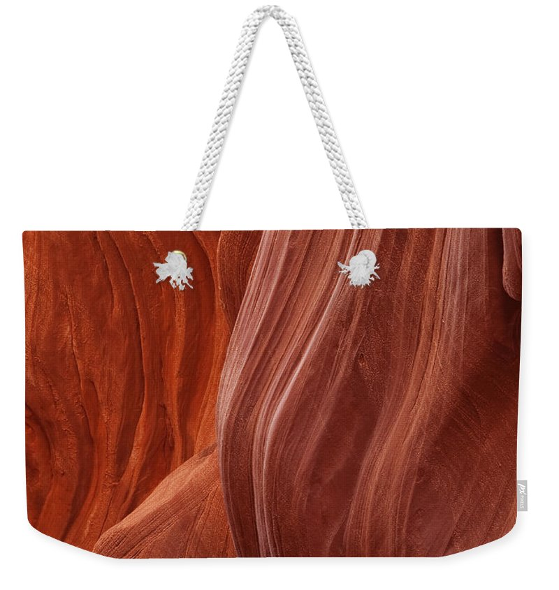 Slot Weekender Tote Bag featuring the photograph Lower Antelope Canyon 2 7947 by Bob Neiman