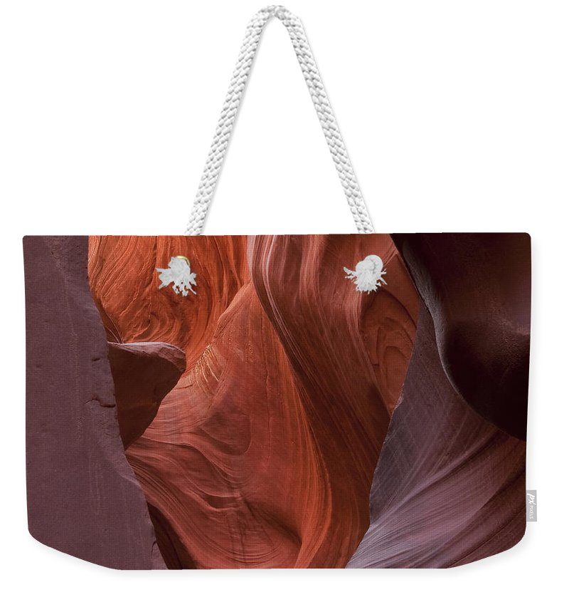 Slot Weekender Tote Bag featuring the photograph Lower Antelope Canyon 2 7951 by Bob Neiman