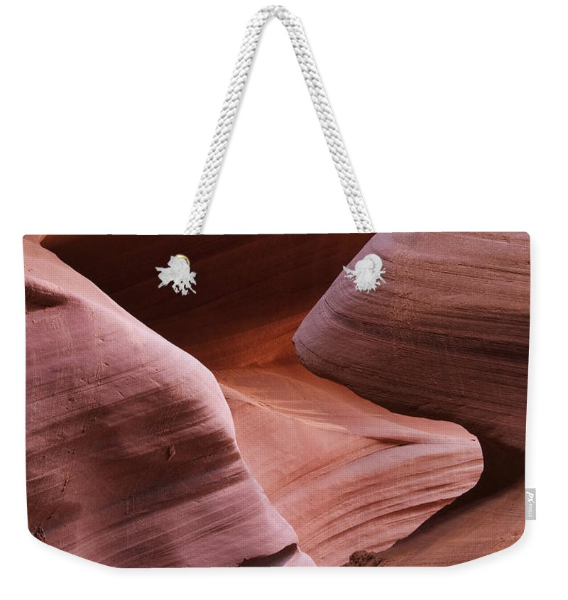 Slot Weekender Tote Bag featuring the photograph Lower Antelope Canyon 2 7978 by Bob Neiman