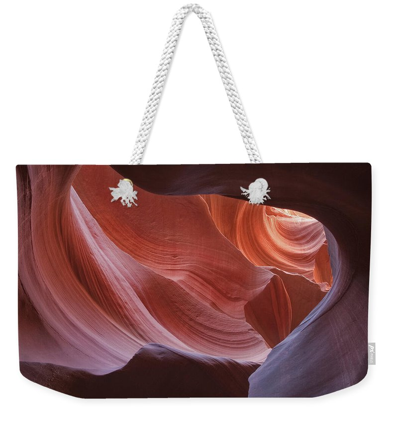 Slot Weekender Tote Bag featuring the photograph Lower Antelope Canyon 7729 by Bob Neiman