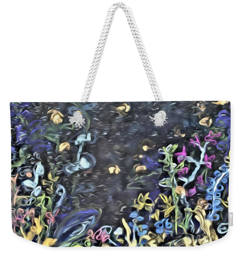 Fire Fly Weekender Tote Bag featuring the painting Lucciola by Modern Art