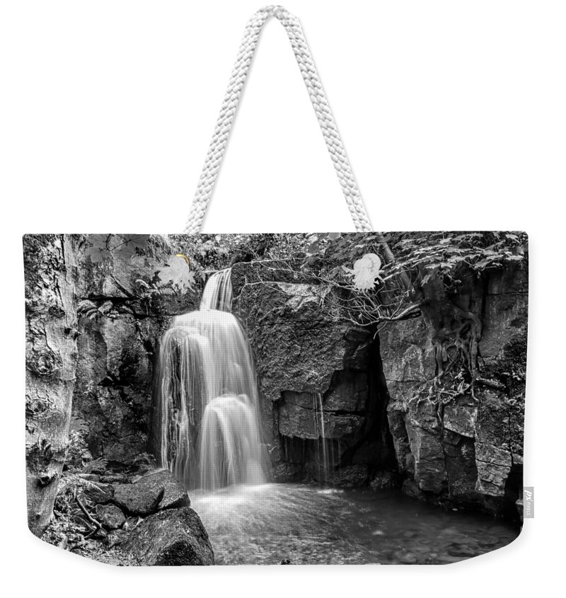 Landscapes Weekender Tote Bag featuring the photograph Lumsdale Falls by Nick Bywater