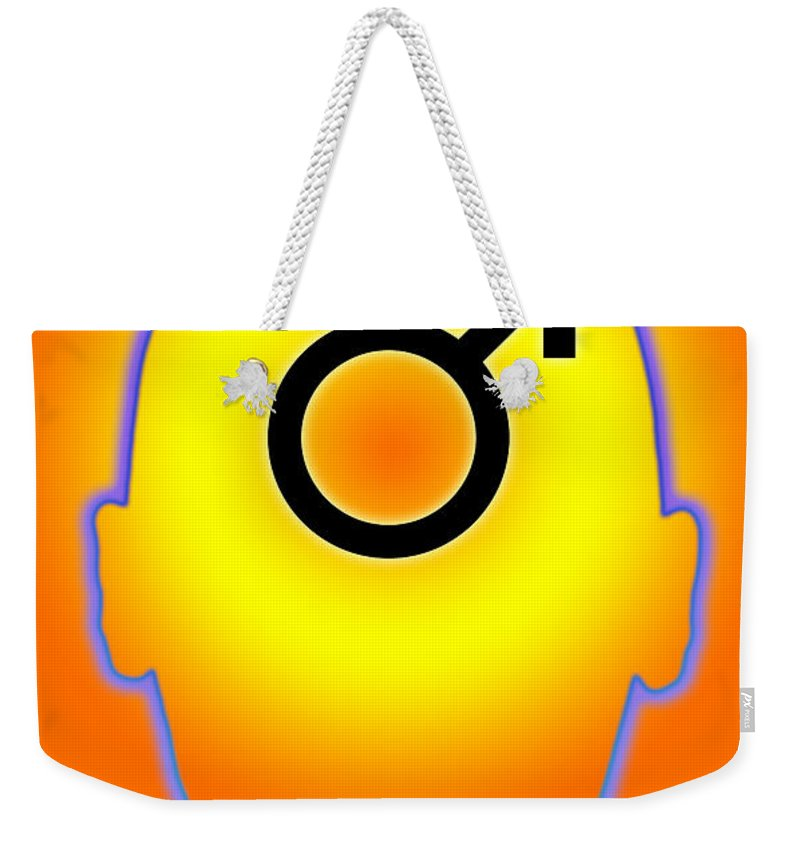 Male Weekender Tote Bag featuring the photograph Male Symbol by George Mattei