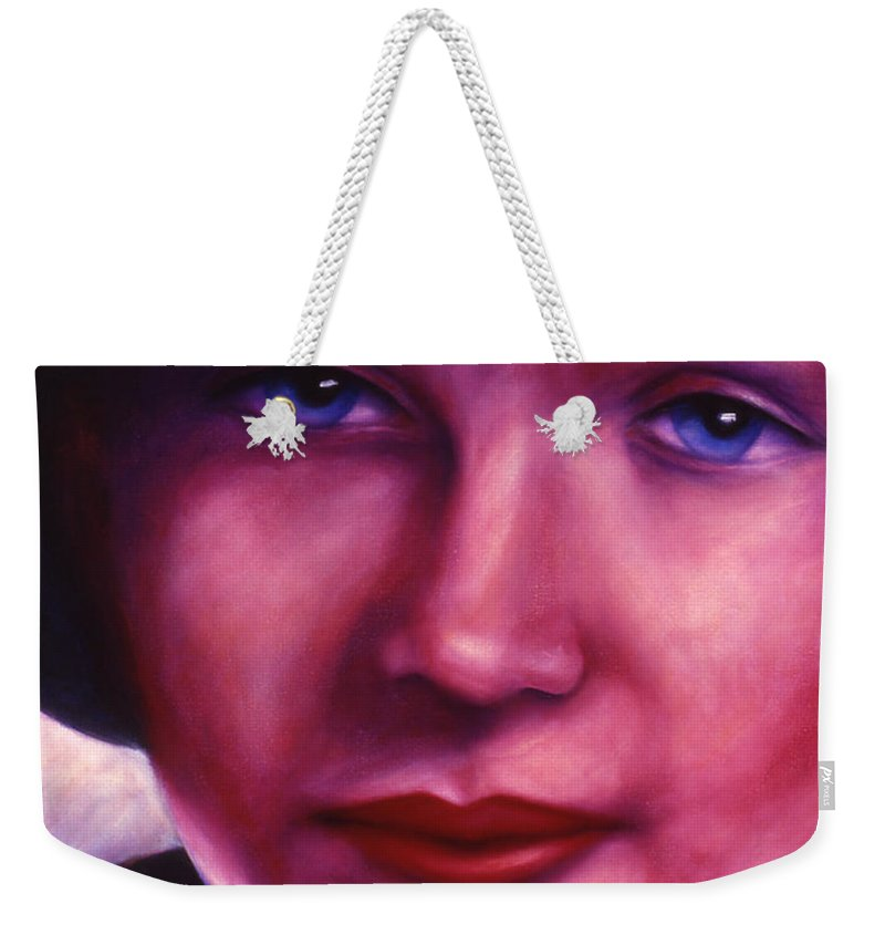 Woman Weekender Tote Bag featuring the painting Maria by Shannon Grissom