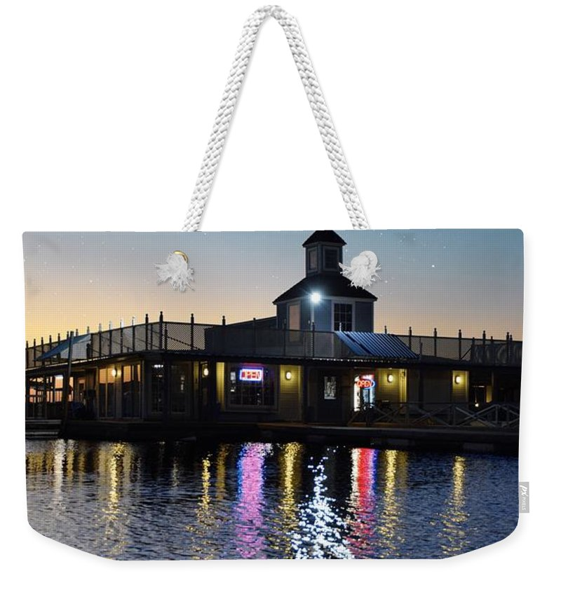 Weekender Tote Bag featuring the photograph Marina by Emily Miller