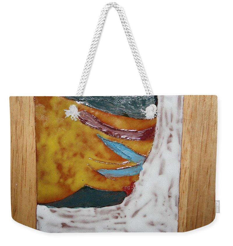 Jesus Weekender Tote Bag featuring the ceramic art Masks - Tile by Gloria Ssali